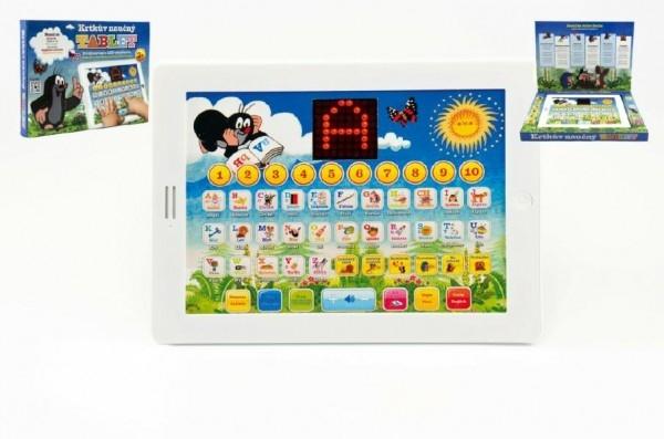 Krtkov náučný tabliet pre najmenších Krtko 24,1x18,7x1,8cm na batérie v krabici