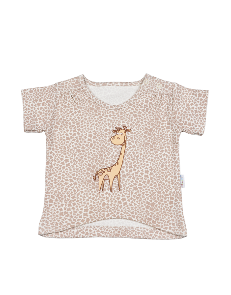 Blúzka / tričko kr. rukáv - žirafka, 74 (6-9m)