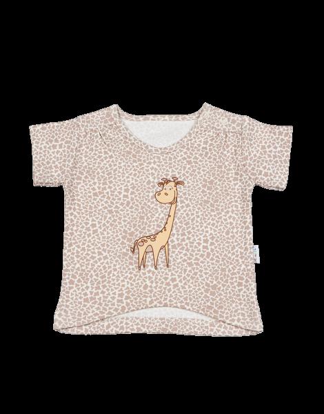Blúzka / tričko kr. rukáv - žirafka, 86 (12-18m)
