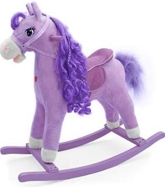 Hojdací koník Milly Mally PRINCESS - fialový