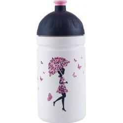 R&B Mědílek s.r.o. Zdravá fľaša - 0.5l - Dievča s dáždnikom, biela