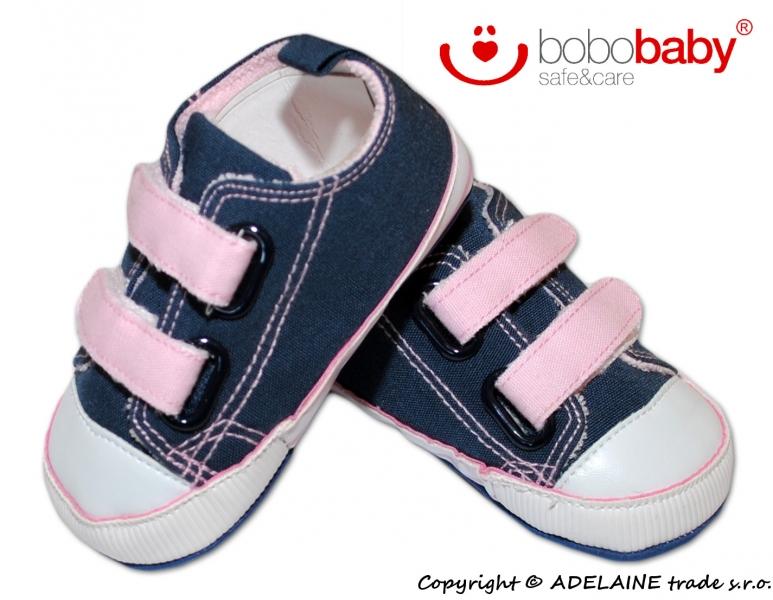 Topánočky BOBOBABY - růžový s jeans