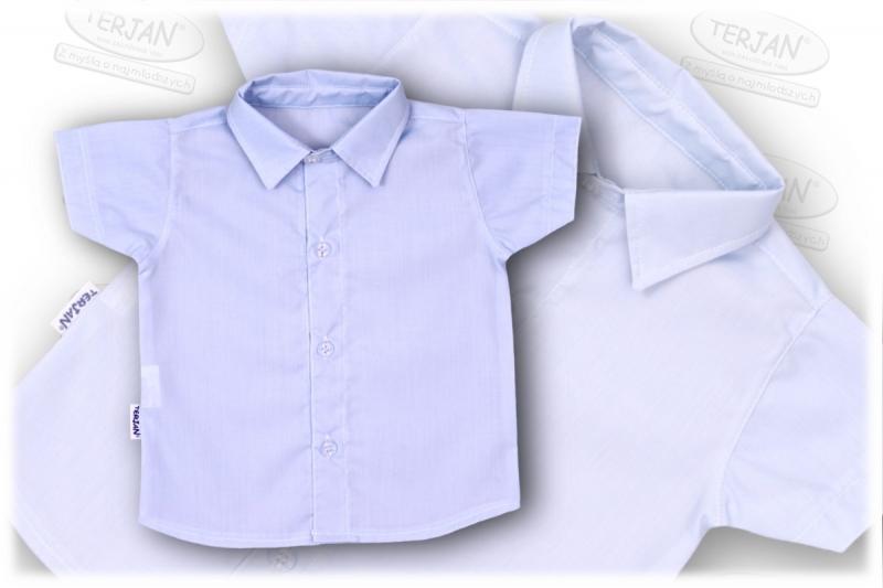 b068ec3e75f4 Detská chlapčenská košeľa krátky rukáv - modra