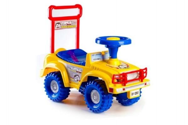 Odrážadlo auto Jeep Yupee žlté 53,5x48,3x26cm v krabici od 12 do 35 mesiacov