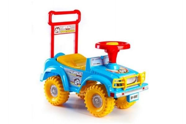Teddies Odrážadlo auto Jeep Yupee modrej 53,5x48,3x26cm v krabici od 12 do 35 mesiacov