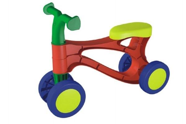 Teddies Odrážadlo Rolocykl - červený plast - výška sedadla 26cm - od 18 mesiacov