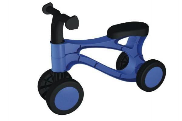 Teddies Odrážadlo Rolocykl - modrý plast - výška sedadla 26cm - od 18 mesiacov