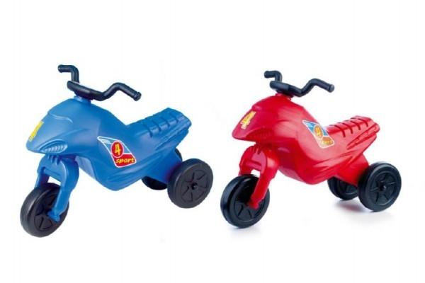 Odrážadlo Superbike 4 mini plast - výška sedadla 26cm - nosnosť do 25kg - od 18 mesiacov