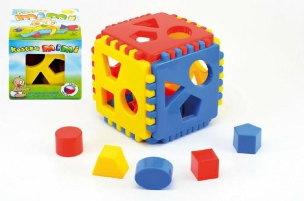 Teddies Vkladacia kocka Mimi 1 plast 12,5x12,5x12,5cm od 6 mesiacov