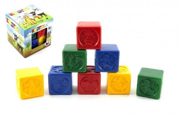 Teddies Kocky kubus PH plast 8ks v krabičke