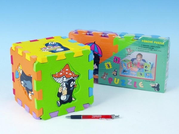 Teddies Penové puzzle Krtko 15x15cm 6ks v sáčku