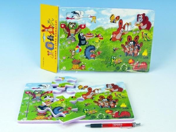 Penové puzzle Krtko 30x21cm 12ks v sáčku