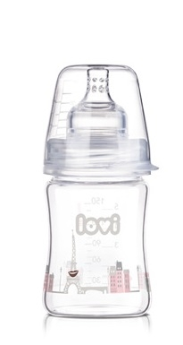 Fľaštička LOVI - 150ml - super vent DIAMOND GLASS - RETRO GIRL