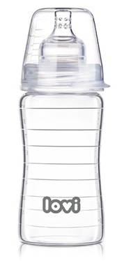 Fľaštička LOVI - 250ml - super vent DIAMOND GLASS