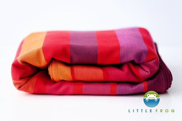 Little FROG Tkaný šatka na nosenie detí - Raspberry Rhodonite S