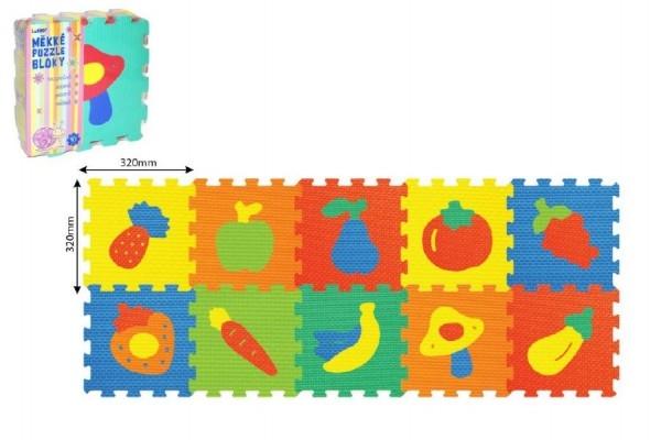 Teddies Penové puzzle Ovocie 30x30cm - 10ks v sáčku