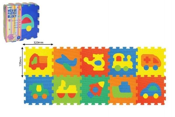 Teddies Penové puzzle Dopravné prostriedky 30x30cm 10ks v sáčku