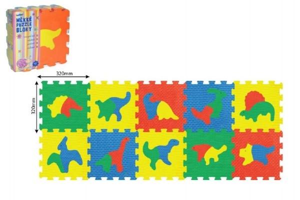 Teddies Penové puzzle Dinosaury 30x30cm 10ks v sáčku