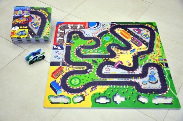 Penové puzzle Závodná dráha 32x32cm 9ks v sáčku