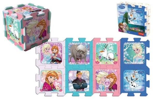 Teddies Penové puzzle Ľadové kráľovstvo/Frozen 32x32x1cm 8ks v sáčku