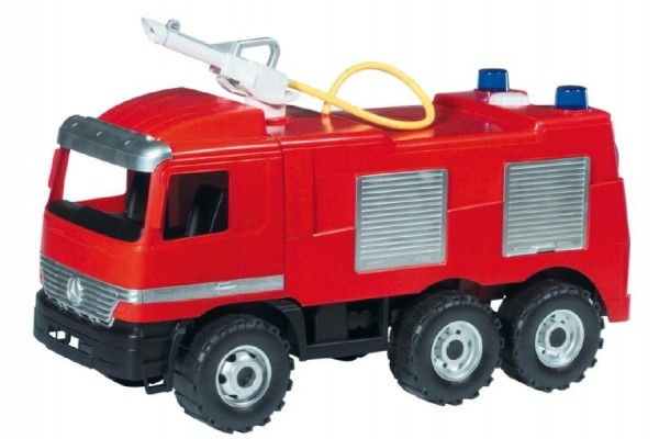 Teddies Mercedes auto hasiči plast 60cm nosnosť 50kg v krabici