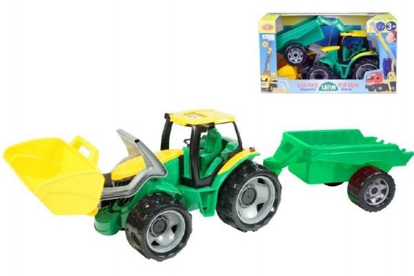 Teddies Traktor sa lyžicou 60cm a prívesom 45cm plast v krabici