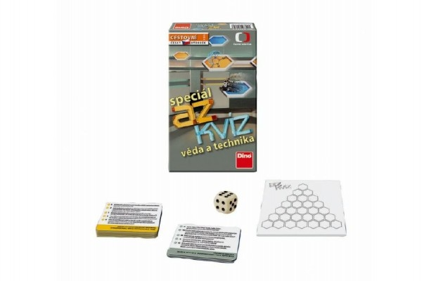 Teddies AZ kvíz Veda a technika spoločenská hra cestovné v krabici 11x18x3,5cm