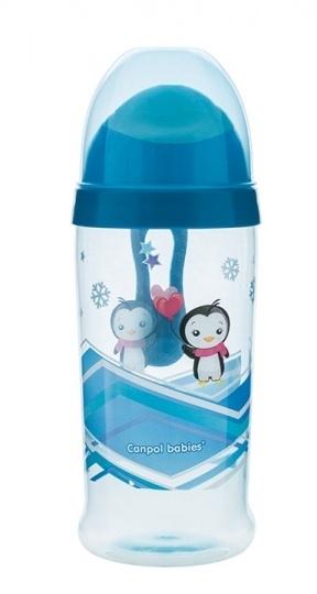 Športová nekvapkajúci fľaša Canpol Babies - modrá