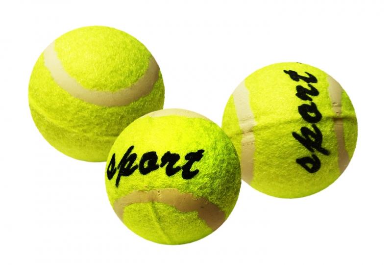Loptička tenisova v sáčku, 3ks