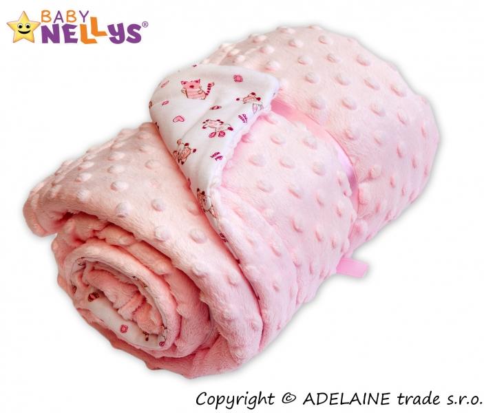 Deka Baby Nellys ® - Minky sv. ružová