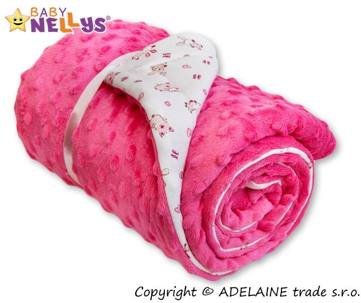 Deka Baby Nellys ® - Minky růžová