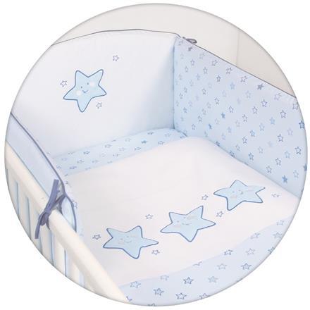 Ceba baby súprava do postieľky 3D hviezdy s výšivkou - modrá