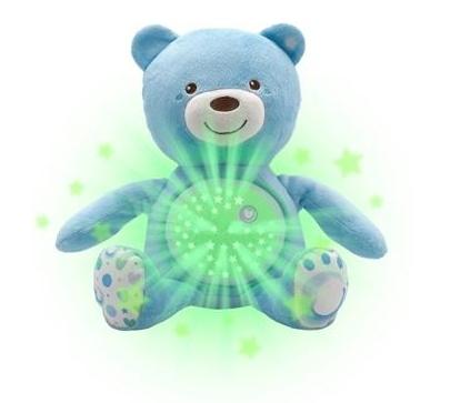 CHICCO Medvedík s projektorom a melódiou