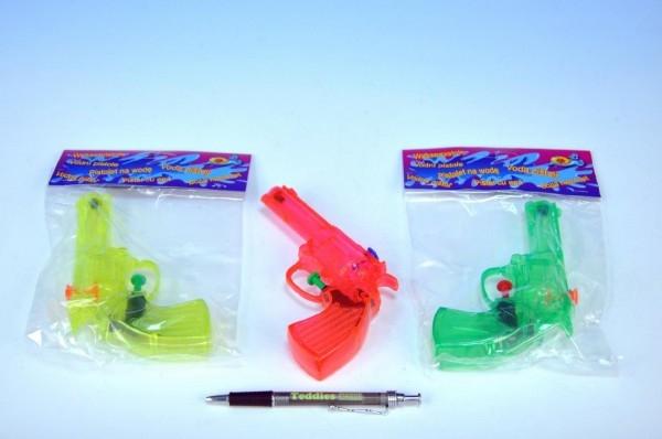 Vodné pištole plast 16cm asst 3 farby v sáčku