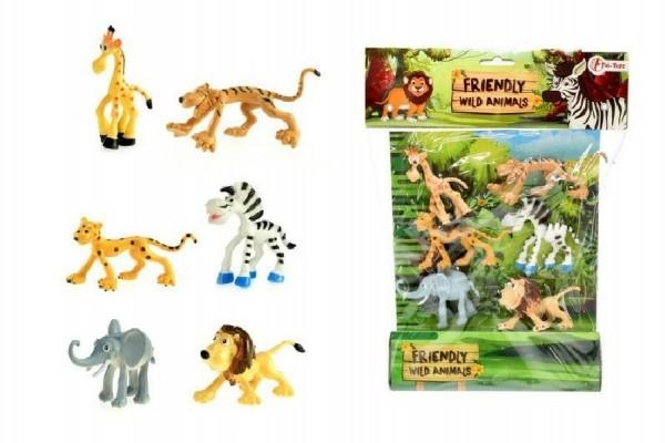 Teddies Veselá zvieratka Safari 6ks v sáčku