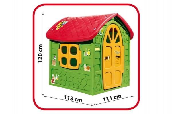 Domček plastový 111x120x113cm