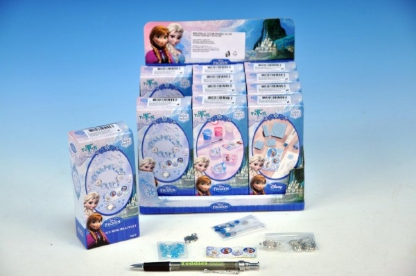 Teddies Kreatívna sada Ľadové kráľovstvo / Frozen 3 druhy 12ks v boxe