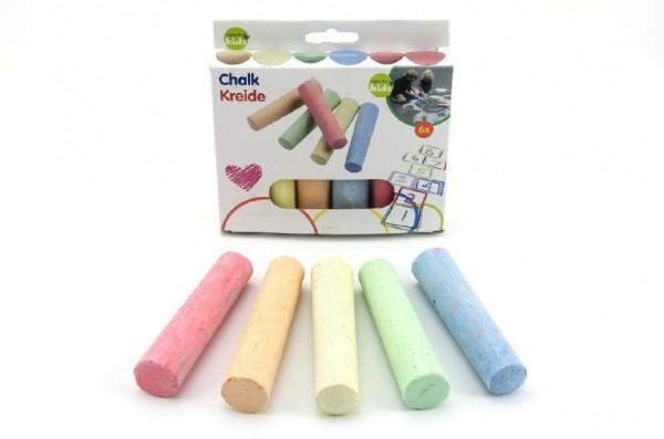 Teddies Kriedy farebné chodníkové 10,5x2,5x2,2cm 6ks v krabičke