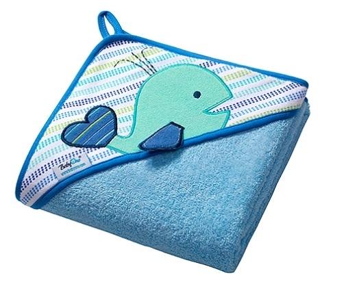 BabyOno Luxusné froté osuška s kapucňou - Veľryba