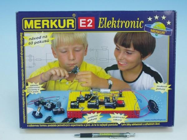 Teddies Stavebnica MERKUR E2 elektronic v krabici