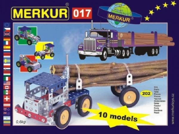 Teddies Stavebnica MERKUR 017 Kamion 10 modelov 202ks v krabici 26x18x5cm