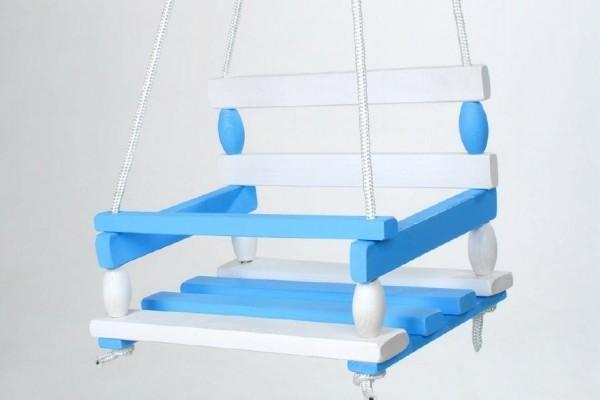 Hojdačka drevo modrá 38x30cm v sáčku