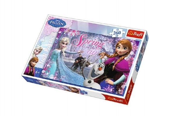 Puzzle Ľadové kráľovstvo / Frozen 260 dielikov 60x40cm v krabici