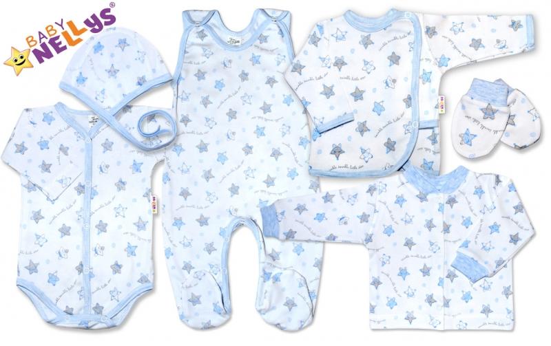 Soup. do pôrodnice 7D Baby Nellys®- hvezdičky modré