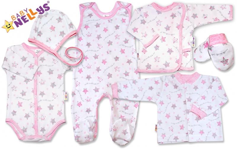 Soup. do pôrodnice 7D Baby Nellys®- hvezdičky ružové