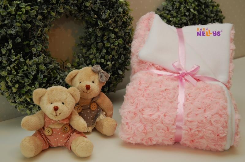 Luxusná deka s kožušinkou - ružová