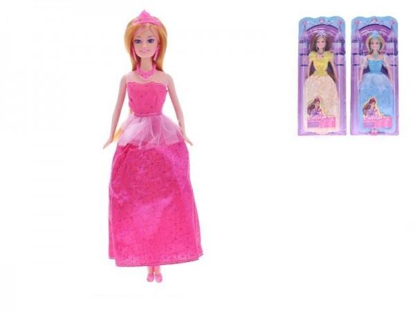 Bábika princezná kĺbová plast 29cm 3 druhy na karte