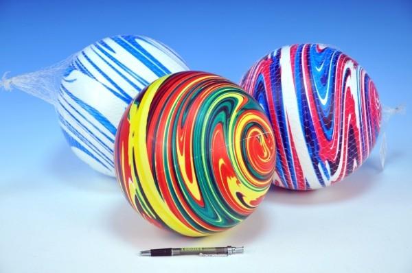 Lopta 22cm dúhový 3 farby v sieťke od 10 mesiacov