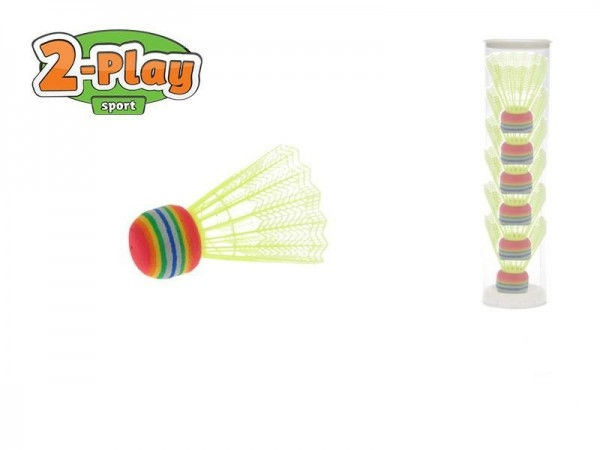 Košíčky na badminton žlté 2-Play 6ks v tube