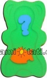 Matračku - huba na kúpanie bábätiek MINI - Zelená